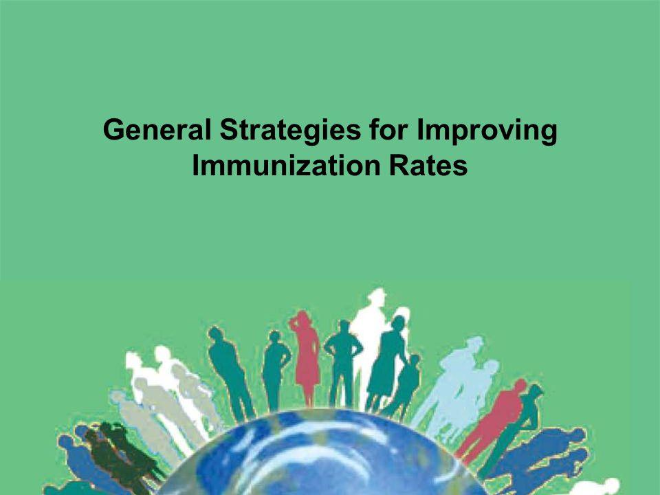 General Strategies for Improving Immunization Rates