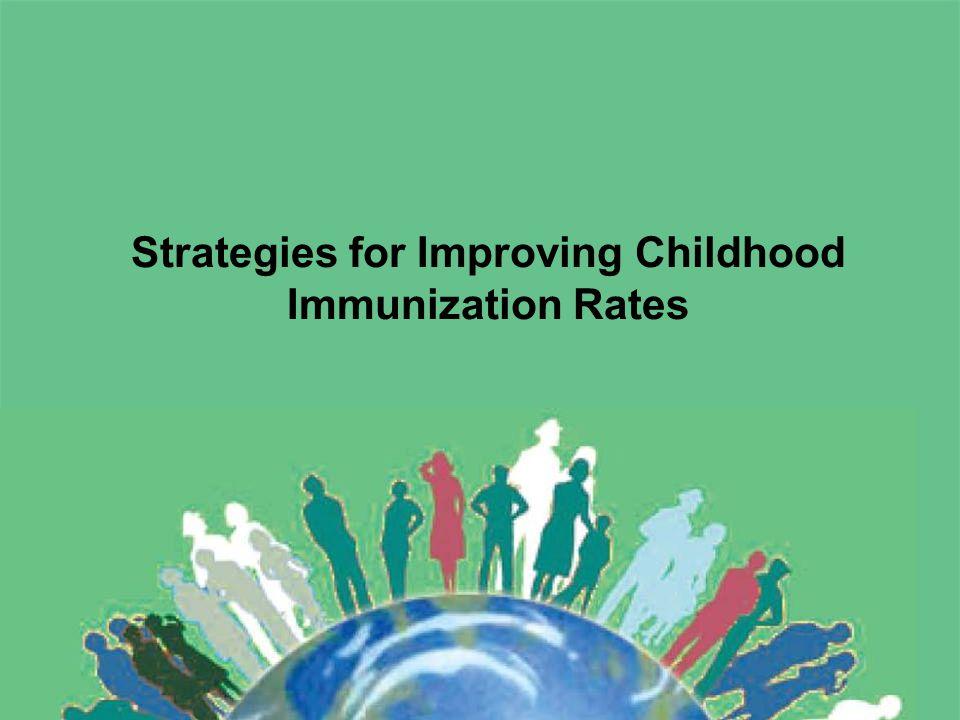 Strategies for Improving Childhood Immunization Rates
