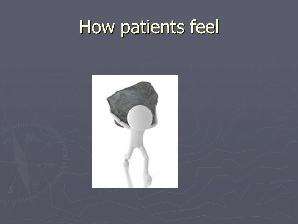 How patients feel