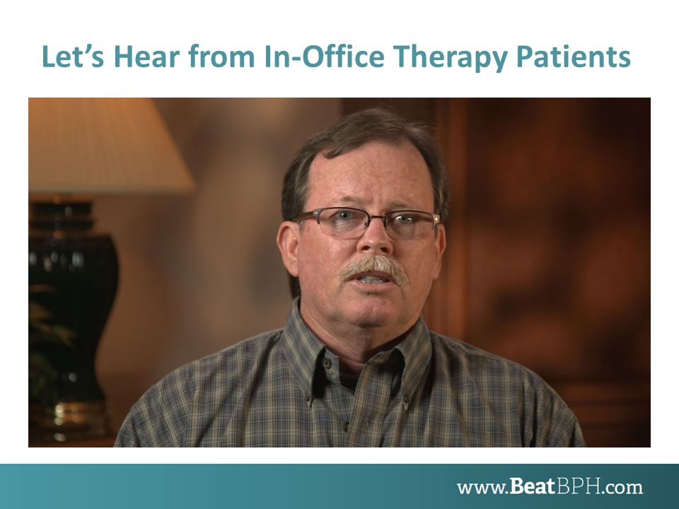 Let's Hear from In-Office Therapy Patients