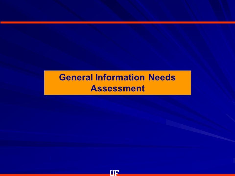 General Information Needs Assessment