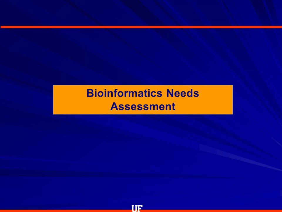 Bioinformatics Needs Assessment