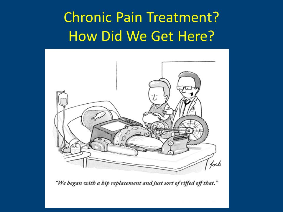 Chronic Pain Treatment How Did We Get Here
