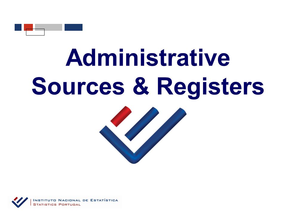 Administrative Sources & Registers