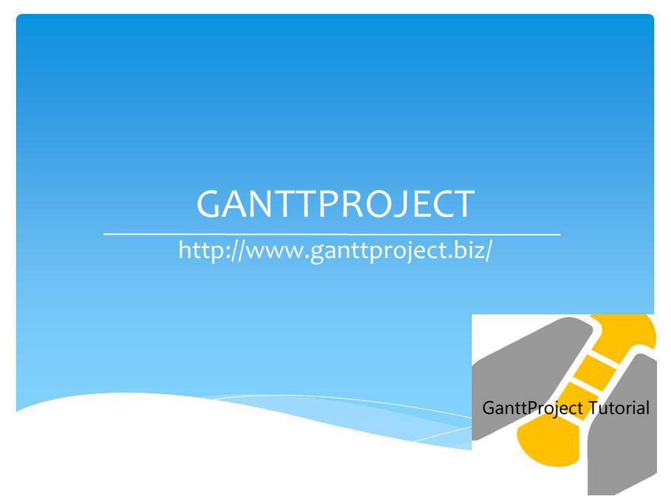 GANTTPROJECT http://www.ganttproject.biz/ J. Burgos