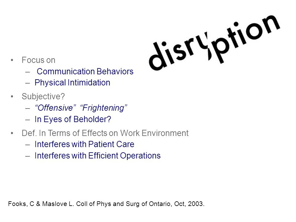 What Is Disruptive Workplace Behavior.