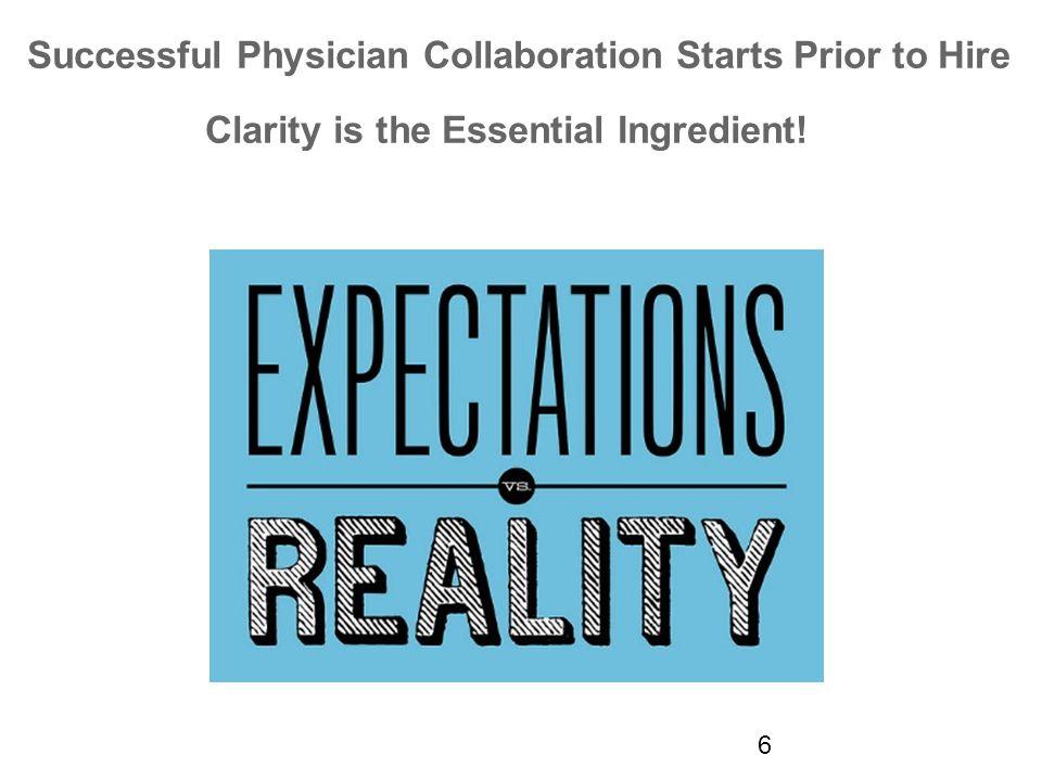 Physicians' Major Priorities 1.