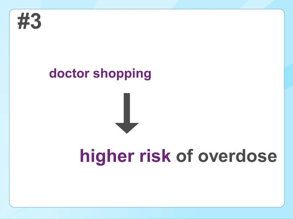 #3 doctor shopping higher risk of overdose