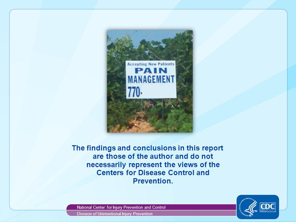 The findings and conclusions in this report are those of the author and do not necessarily represent the views of the Centers for Disease Control and Prevention.