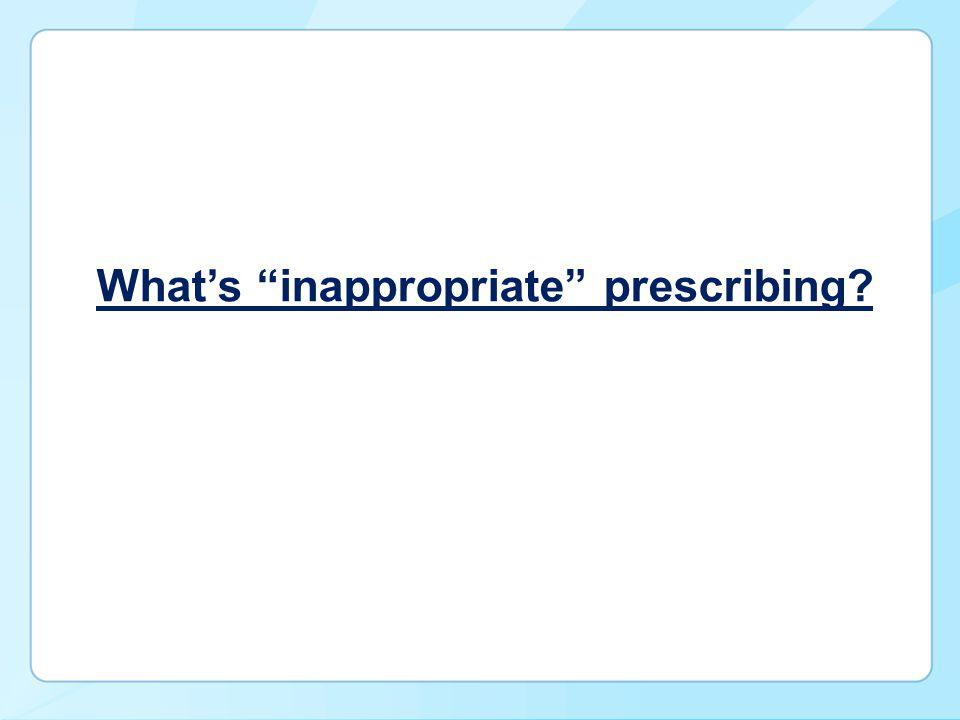 What's inappropriate prescribing?