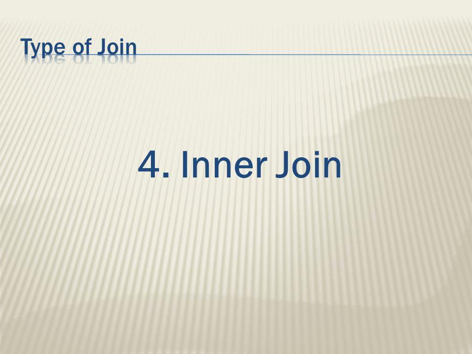 4. Inner Join