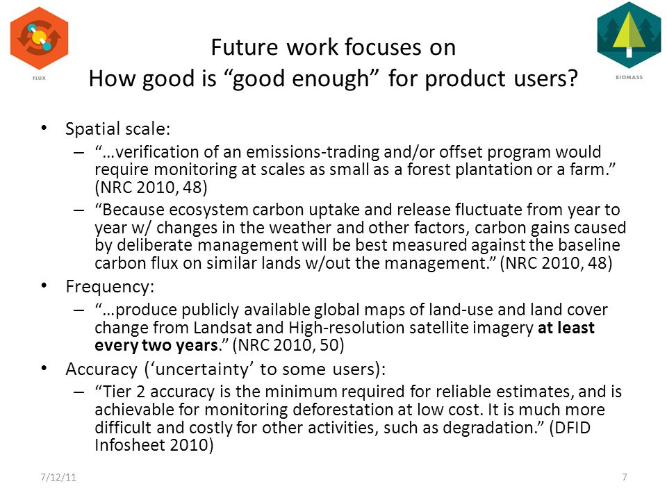 Future work focuses on How good is good enough for product users.
