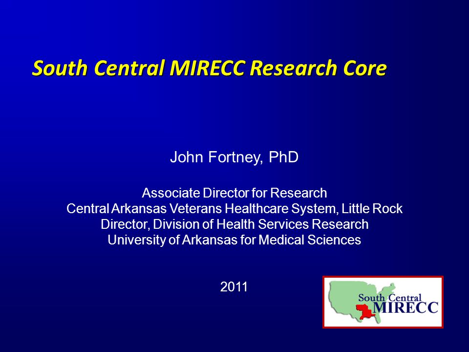 SC MIRECC Research Productivity (FY09-11) 27 funded investigators across all sites 46 funded grants $37,095,085 = extramural dollars 131 publications (additional 30 in press) Increased collaboration across MIRECC sites external to MIRECC