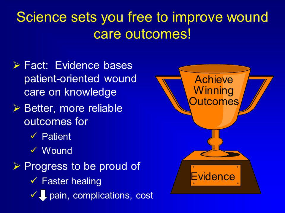 Science sets you free to improve wound care outcomes.