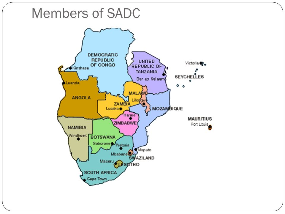 SADC Services Trade by Member State (2006) Net Exporters of Services Mauritius Tanzania Botswana Namibia