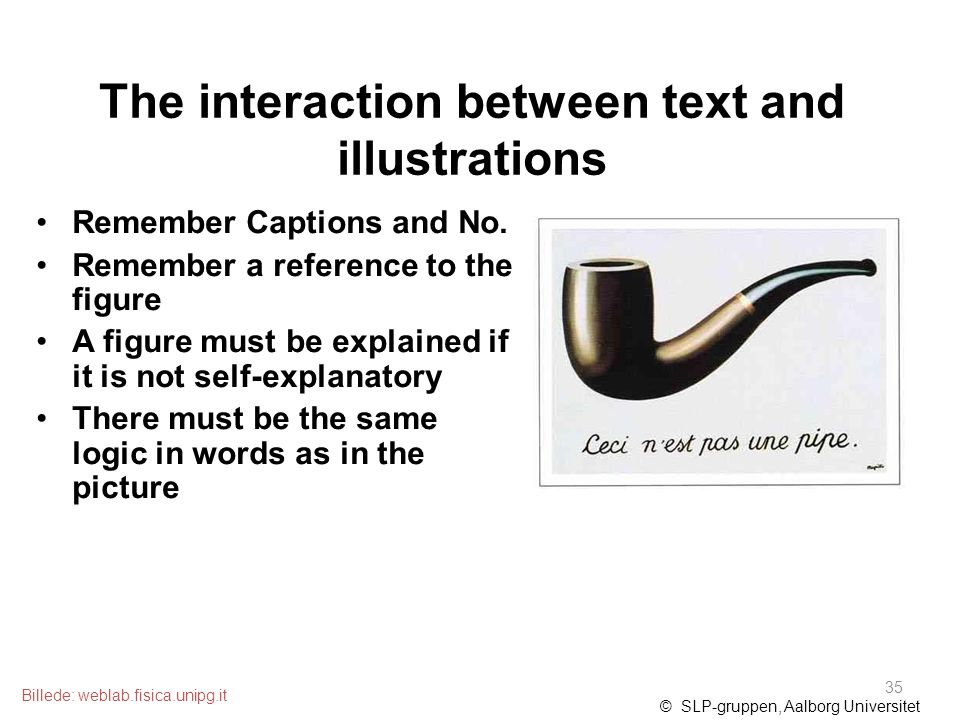 The interaction between text and illustrations Remember Captions and No.