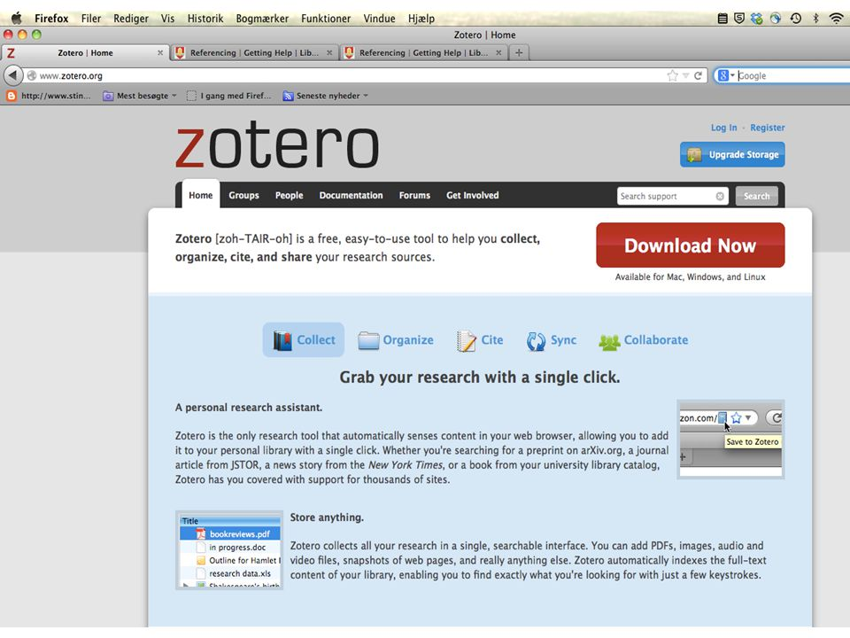 Zotero as reference manager 45