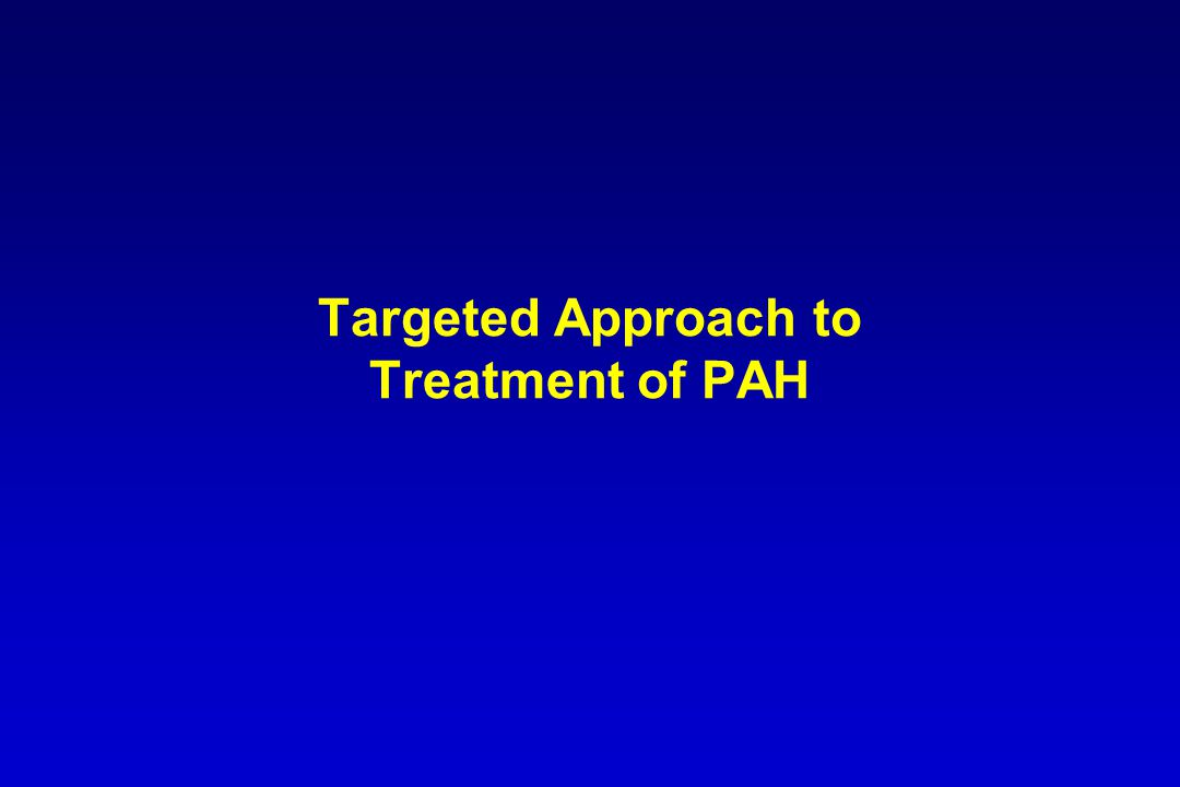Targeted Approach to Treatment of PAH