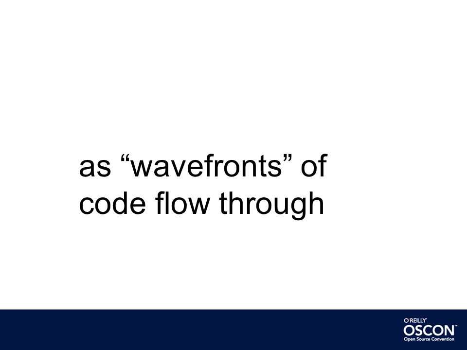 as wavefronts of code flow through