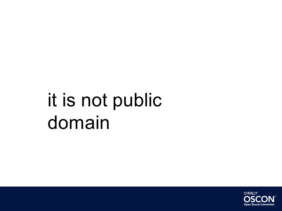 it is not public domain