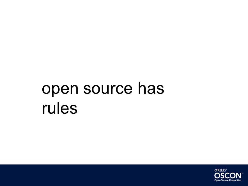 open source has rules