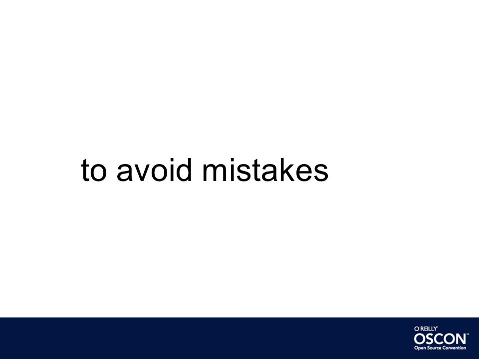 to avoid mistakes