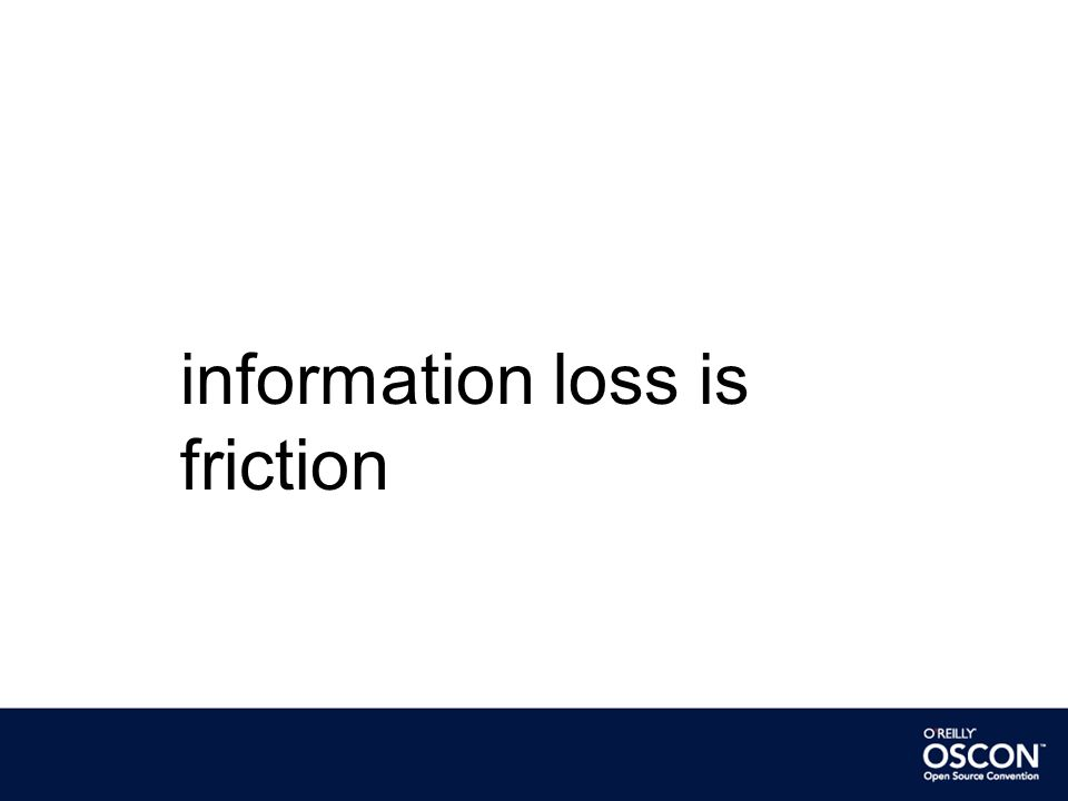 information loss is friction