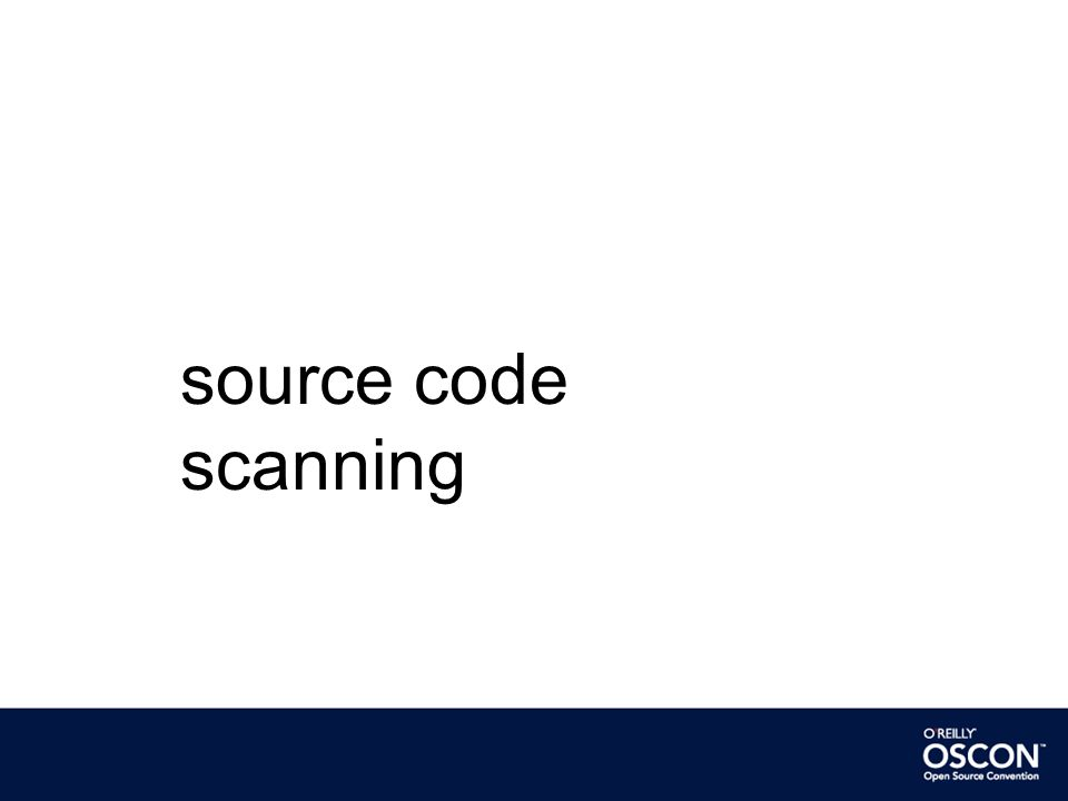 source code scanning