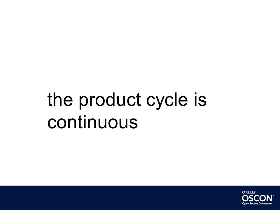 the product cycle is continuous