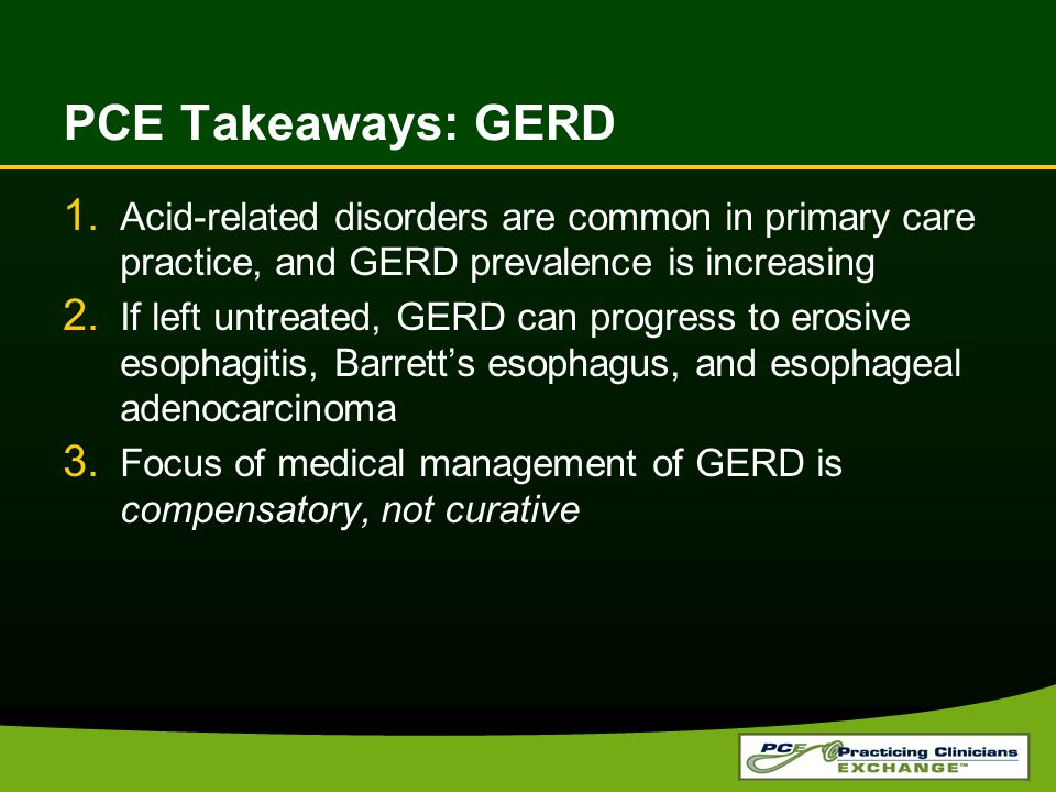 PCE Takeaways: GERD 1.