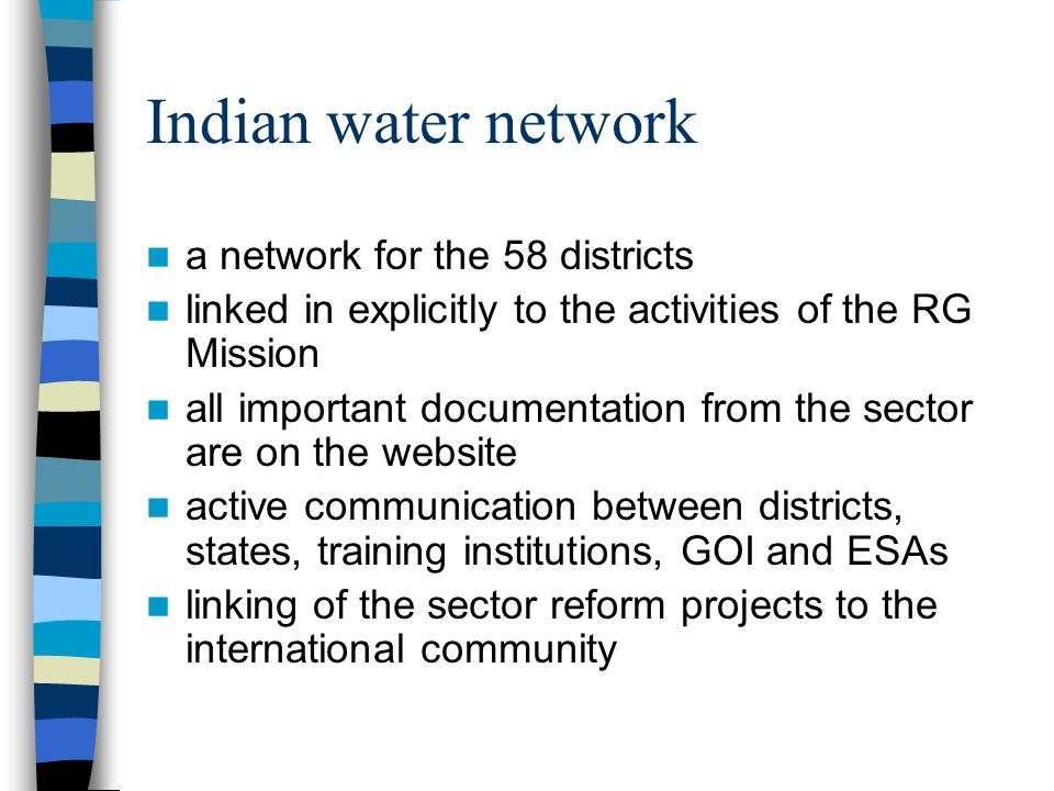 Option 2: Government based/led Govt – Rural & Urban WES-Net Members & UN agencies Activities – focus on policy & implementation Marginalized Civil Soc