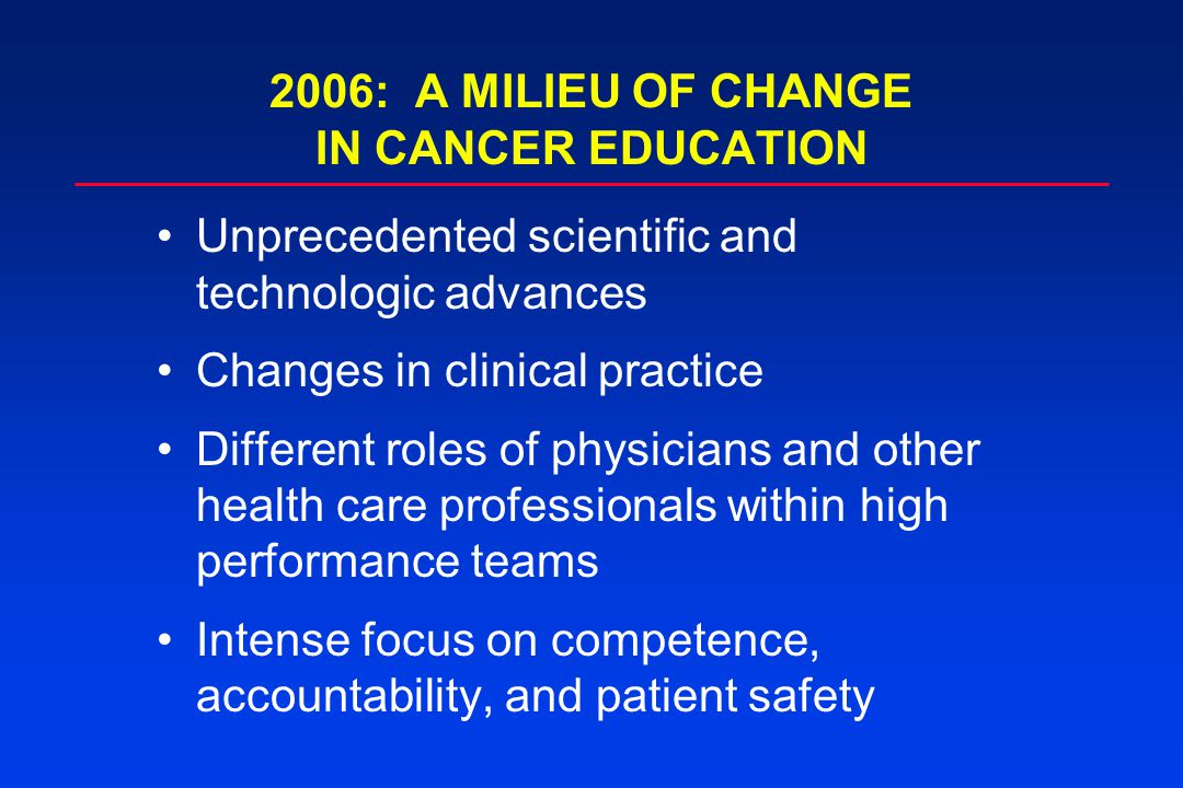 The key role of the American Association for Cancer Education
