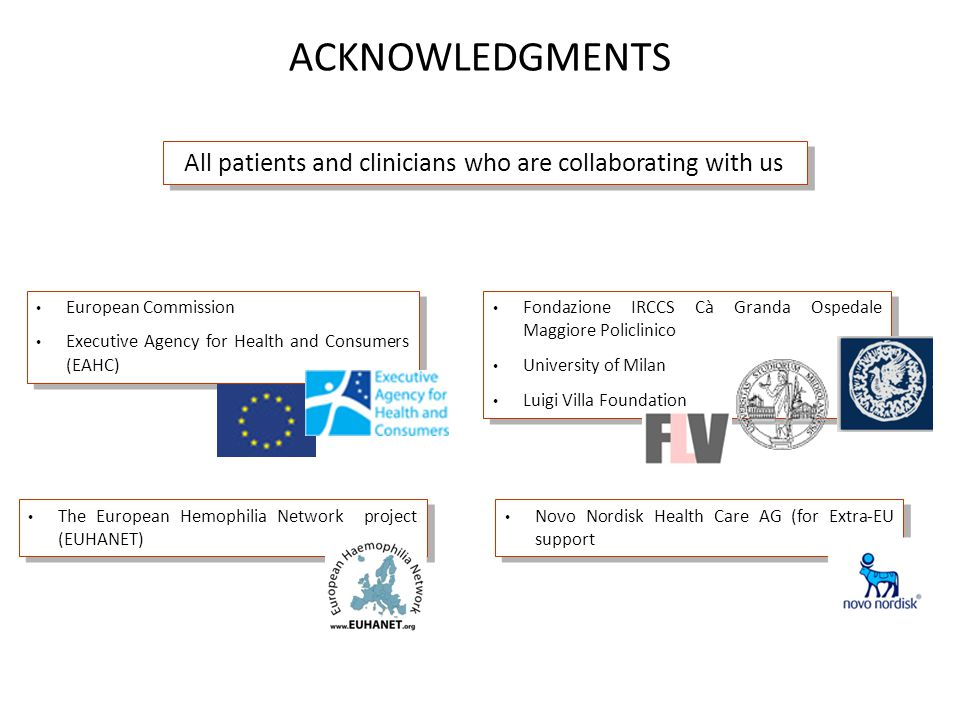 ACKNOWLEDGMENTS European Commission Executive Agency for Health and Consumers (EAHC) European Commission Executive Agency for Health and Consumers (EA