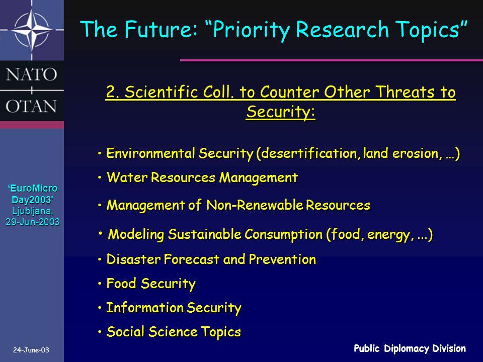24-June-03 Public Diplomacy Division 2.Scientific Coll.