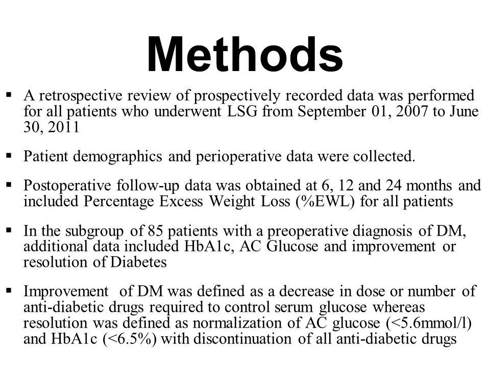 Methods  A retrospective review of prospectively recorded data was performed for all patients who underwent LSG from September 01, 2007 to June 30, 2