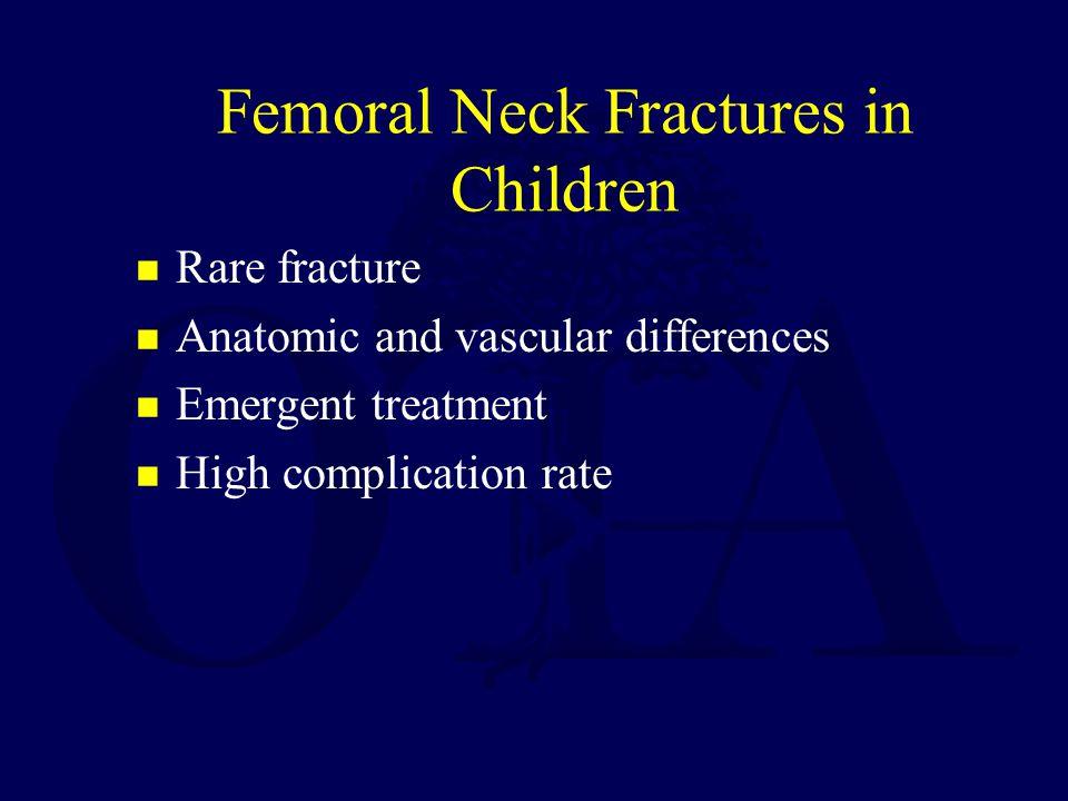 Nonunion 5-10% incidence Less with internal fixation Treatment –Valgus osteotomy –Bone graft -Bagatur.