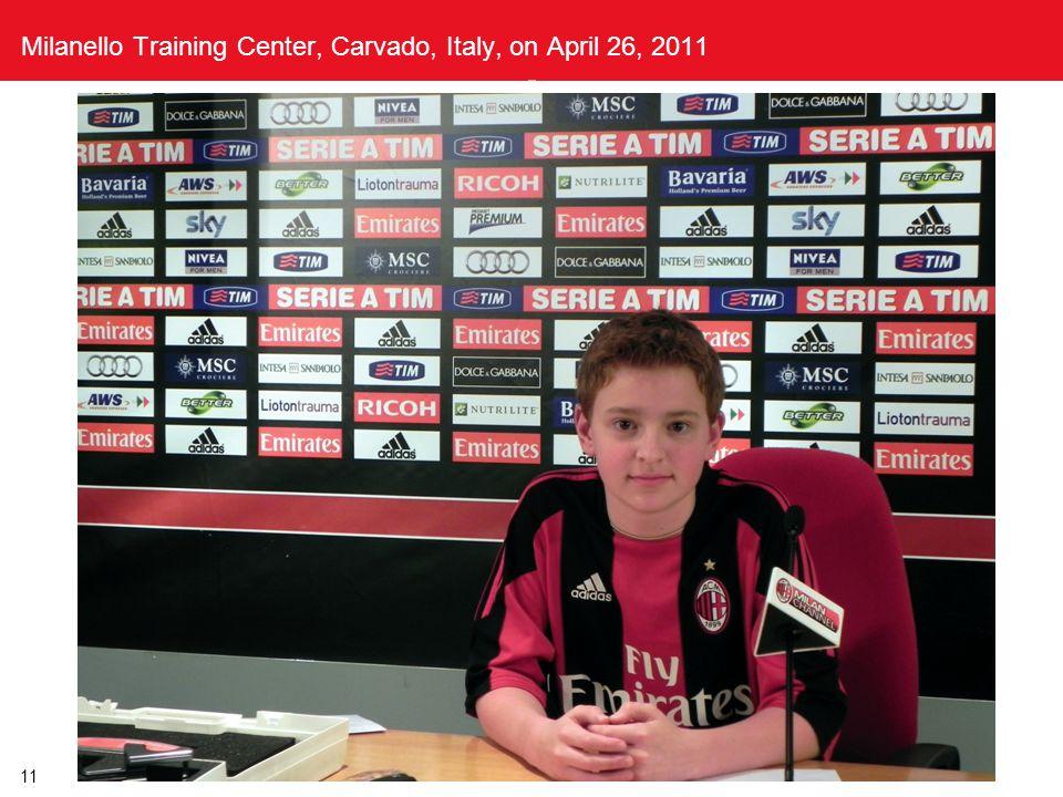 11 Milanello Training Center, Carvado, Italy, on April 26, 2011