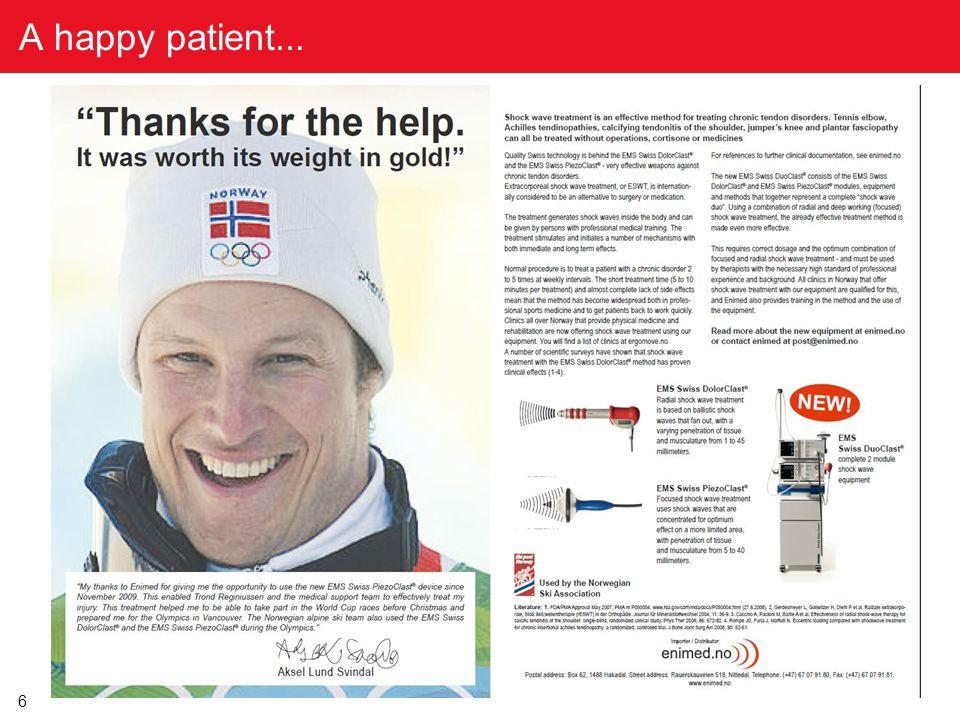 6 A happy patient...