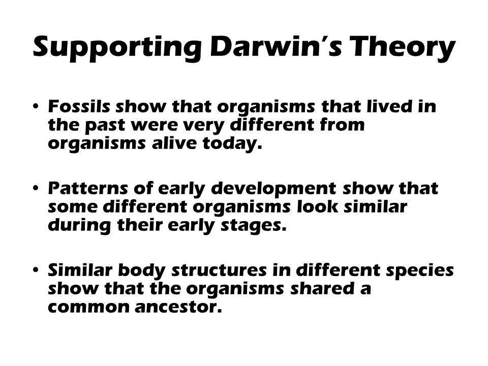 What recent research findings support Darwin's theory of Evolution?