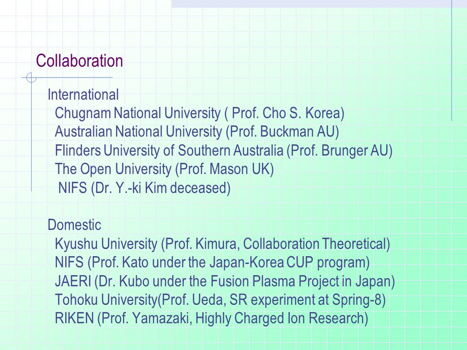 Collaboration International Chugnam National University ( Prof.