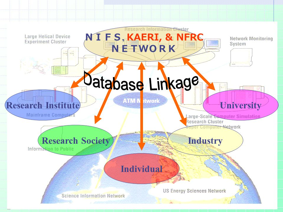 Role of NIFS NETWORK NIFS, KAERI, & NFRC NETWORK Research Institute Industry University Research Society Individual