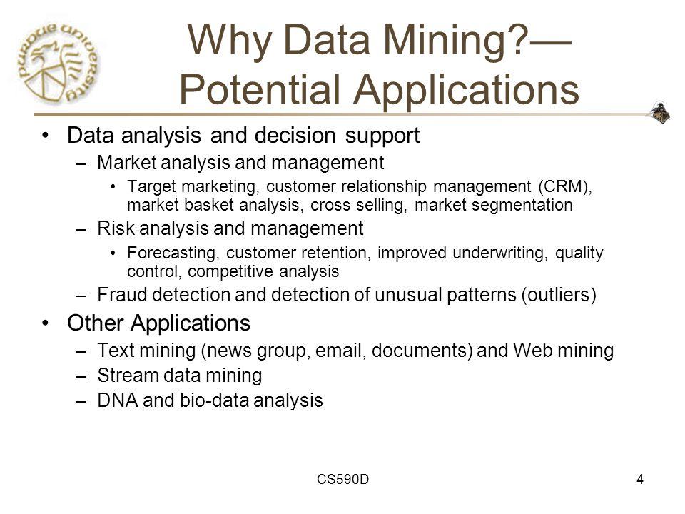 5 Course Outline http://www.cs.purdue.edu/~clifton/cs590d http://www.cs.purdue.edu/~clifton/cs590d 1.Introduction: What is data mining.