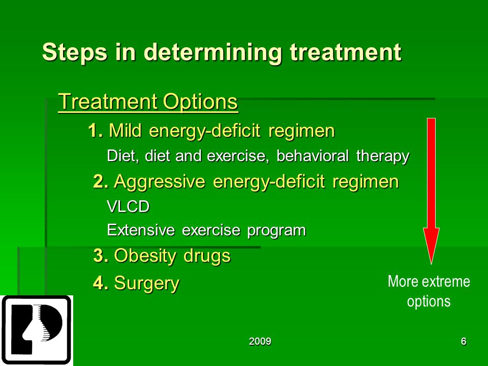 20096 Steps in determining treatment Treatment Options 1.