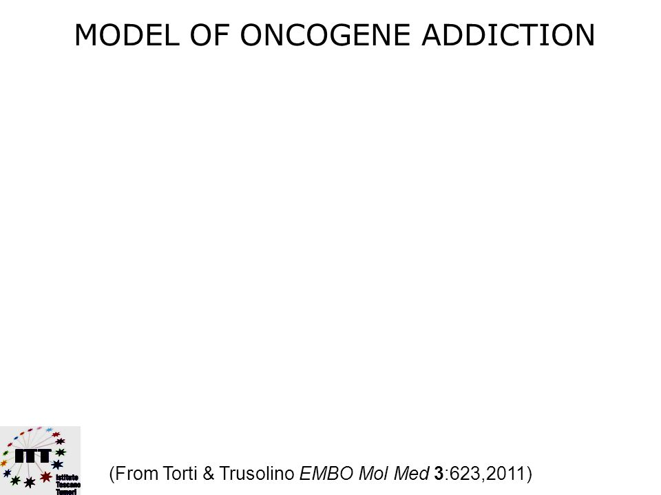 ONCOGENE ADDICTION …The apparent dependency of some cancers on one or a few genes for the maintenance of the malignant phenotype Bernard Weinstein Clin Cancer Res 3:2696,1997 Science 297:63,2002 Cancer Res 68:3077,2008