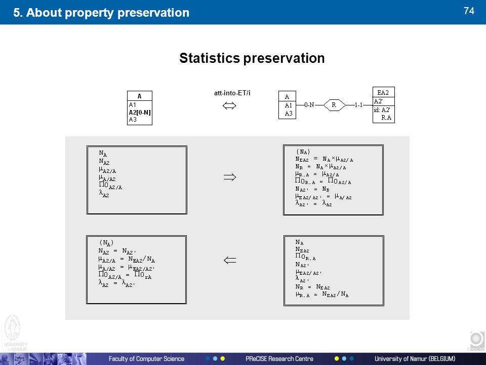 74 5. About property preservation Statistics preservation  att-into-ET/i  