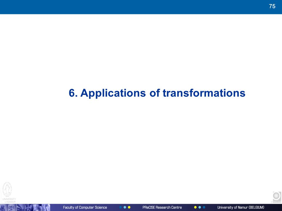 75 6. Applications of transformations