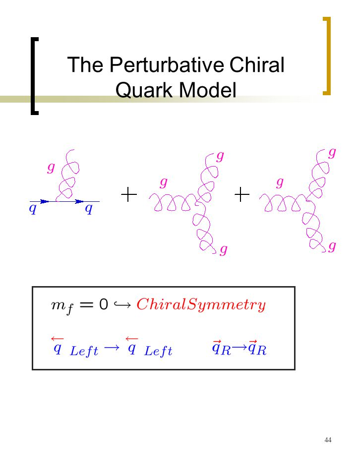 44 The Perturbative Chiral Quark Model