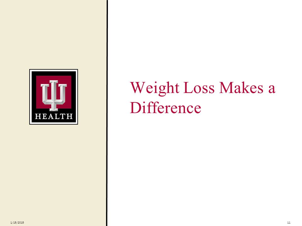Weight Loss Makes a Difference 1/15/201511