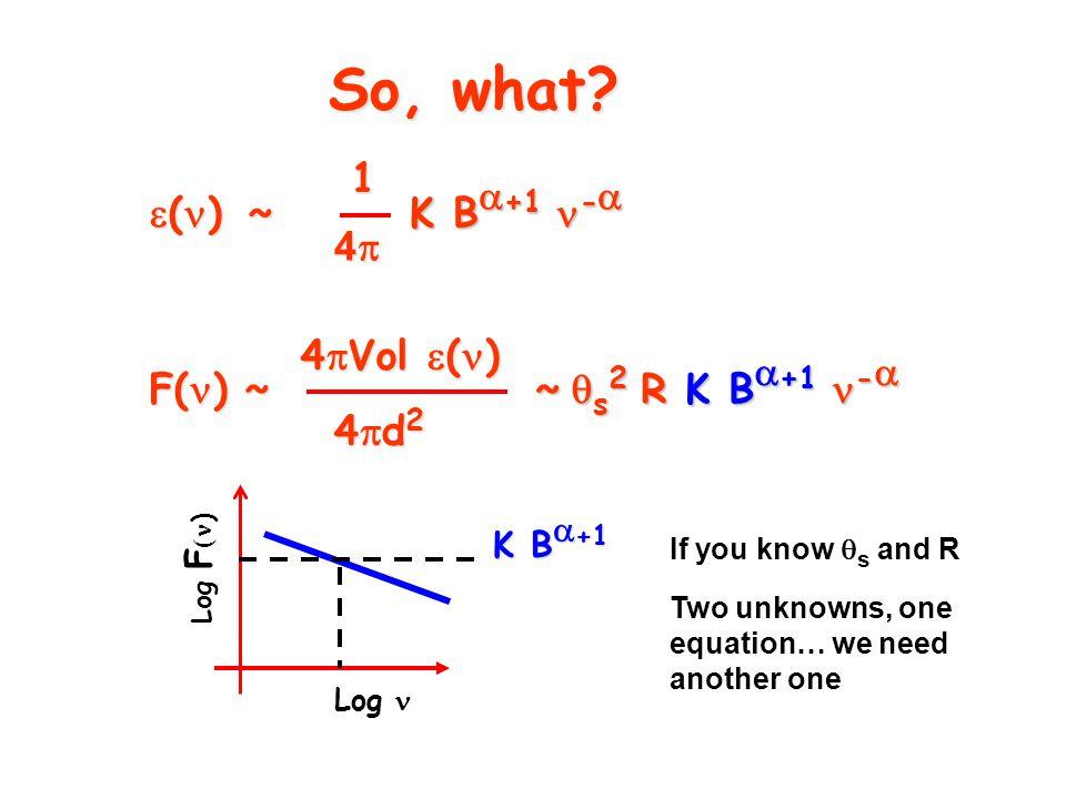  ( )  ~ 1 4444 K B  +1 -  So, what.