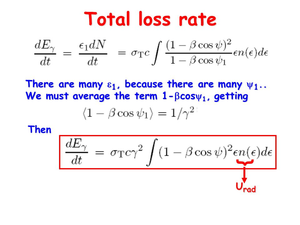 Total loss rate There are many  1, because there are many  1..